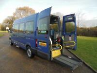 2010 60 RENAULT MASTER 2.5DCI LWB WHEELCHAIR ACCESSIBLE MINI BUS 54000 MILES