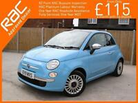 2011 Fiat 500 1.2 Lounge 5 Speed Sunroof Bluetooth Air Con Just 2 Lady Owners On