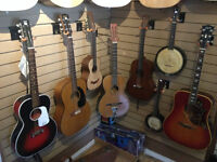 Vintage Stringed Instruments. Inventory list of Hands on Music