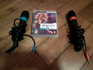 Ps3 singstar with 2 microphones