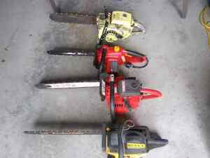 Four Chainsaws