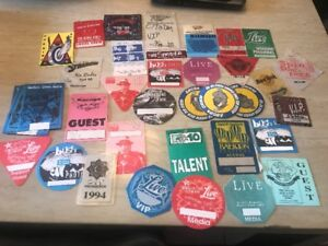 Collectable USED Backstage Passes