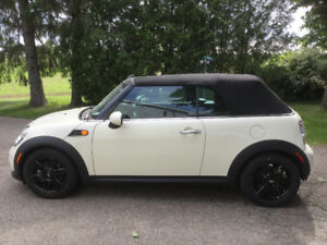 2015 Mini Cooper Convertible low km's and stored winters!