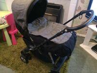 Stunning grey tweed mamas & papas 2 in 1 Pram pushchair stroller buggy pramette