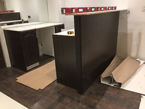 Custom Made Bar Millwork Ikea Vanity Assembly Services