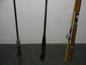 FOR SALE- 2 FISHING POLES AND A REEL