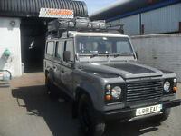 Land Rover 110 DEFENDER TURBO DIESEL, 12 SEATER