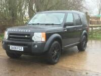 Land Rover Discovery 3 2.7TD V6 auto 2008 SE Java Black Alpaca leather FSH