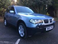 2005 BMW X3 3.0 PETROL AUTOMATIC FULL BLACK LEATHER INTERIOR for sale  Plymouth, Devon
