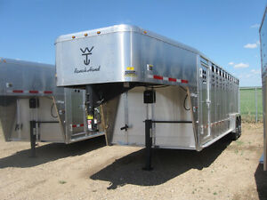 New Wilson 22' To 30' Stock Trailers - New Year Sale