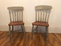 2 x upcycled vintage chairs