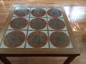Teak - Coffee Table with Tile Inlay