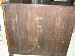 Antique Early Victorian Walnut Cupboard with Spindles & Inlays London Ontario image 5