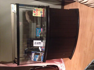 Reduced...72 gallon bow front aquarium with cabinet