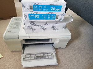HP all in one printer/scanner with paper