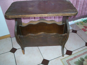 Vintage, side table, with storage area below