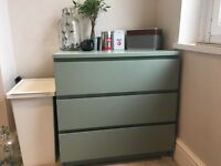 Green - chest of drawers - 3 drawers - excellent condition