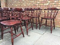 30 X vintage pub restaurant cafe solid wood chairs