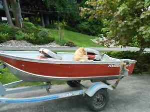 10 ft Harbercraft boat and trailer