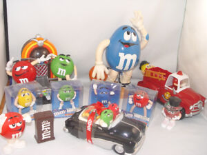 Collection of M & M Candy Dispenser Salt Pepper Shakers