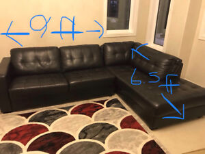 SELLING ALMOST NEW BLACK SECTIONAL $800