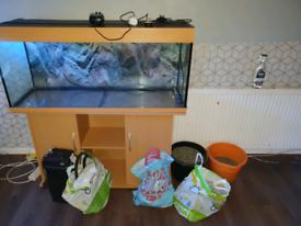 Jewel rio fish tank 220ltr complete set up