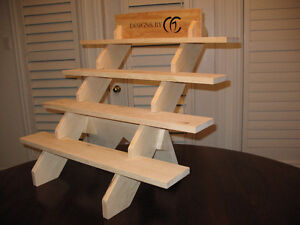 Portable 4 or 5 Shelf Craft Display Stand