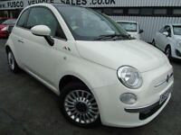 2011 Fiat 500 LOUNGE - White - Platinum Warranty / MOT!