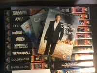 James Bond Movie Collection VHS & DVDs