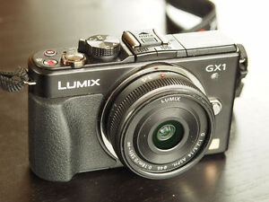 LUMIX GX1 with 14mm f/2.5 prime lens micro four thirds