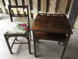 Telephone table and chair