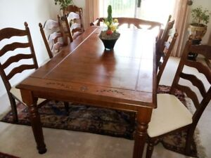 Malaysian Built Solid Wood Dining Table From Costco