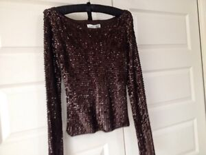Sherry Bloom sequin top small