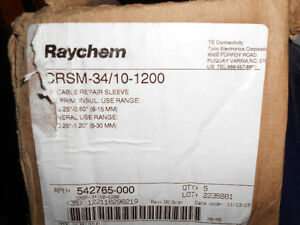 2 Boxes Raychem CRSM-34/10-1200 Heat Shrink Sleeve