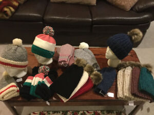 Hand Knit Hats Mittens Socks and more...