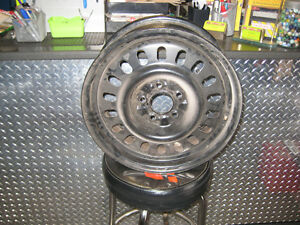 "ford o.e.m. taurus steel rims 16"" x 6"" t-bird etc 108 bolt patrn"