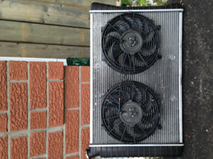3 core radiator with 2 electric fans