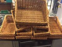 Job lot of wicker baskets