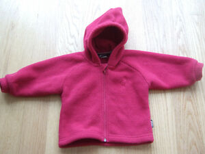 MEC Infant Fleece Hoodie - Dark Pink, Size 12 months
