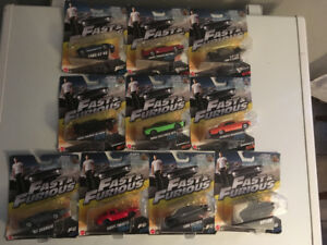 All 10 Brand New Fast and The Furious Movie Collector Cars