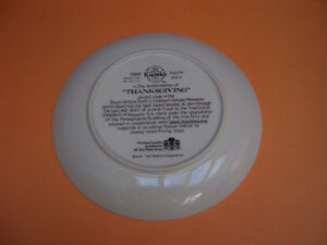 """KNOWLES """"THANKSGIVING"""" COLLECTOR PLATE COMPLETE WITH BOX AND COA London Ontario image 2"""
