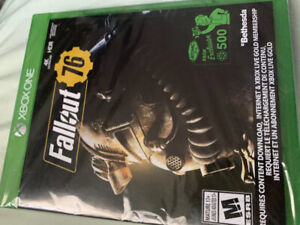 Fallout 76 for Xbox one still sealed