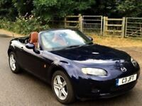 Mazda mx5 1.8 navy blue with brown leather seats