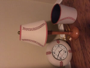 Baseball accessories for child's bedroom