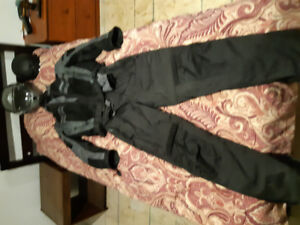 Cold weather riding suit and helmets
