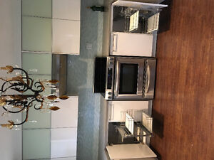 Kitchen Aid cabinet And appliances