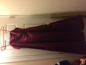 Burgundy formal dress size 12 new with tags