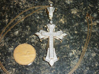 Large Gold Cross Pendant - 470 Diamonds 2 Appraisals - $1950 OBO