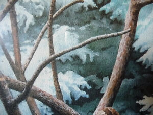 """Hand Signed, Numbered Lithograph by Peter Miehm """"Finches"""" 1981 Stratford Kitchener Area image 9"""