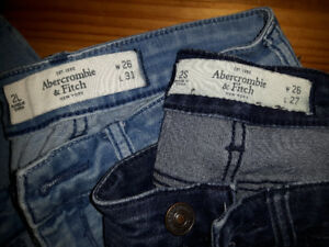 Abercrombie & Fitch jeans 26 w/ Hollister shorts size 3/26 waist